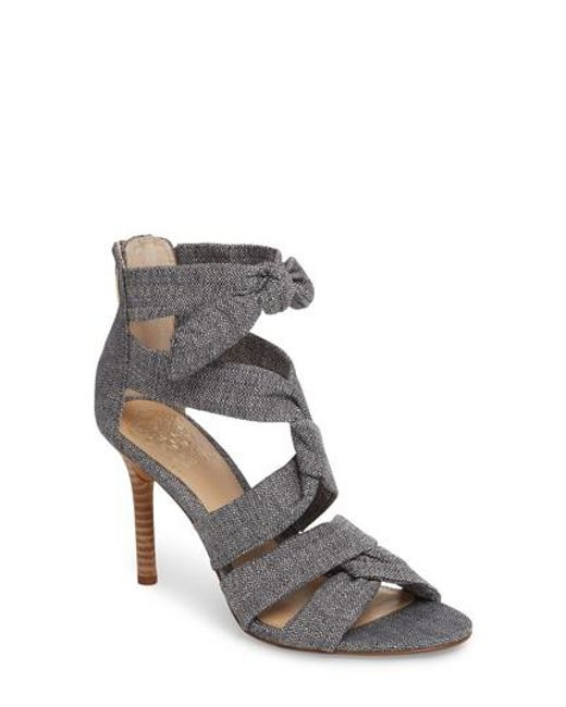 Vince Camuto Chania Linen Strappy Dress Sandals YWhiCbq