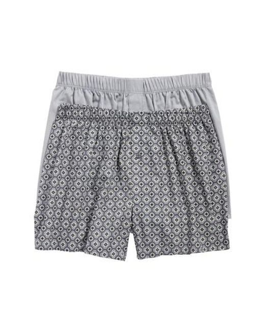 Hanro - Gray 2-pack Fancy Woven Boxers, Grey for Men - Lyst