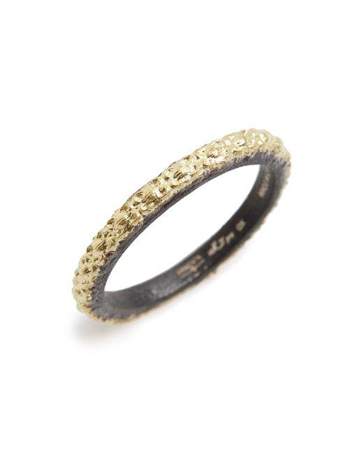 Armenta - Metallic Old World Textured Stack Ring - Lyst