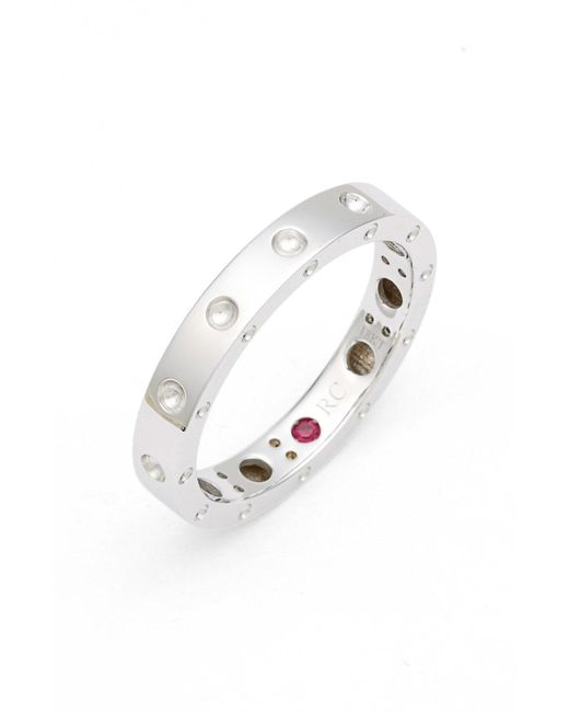 Roberto Coin - White 'symphony - Pois Moi' Ruby Band Ring - Lyst