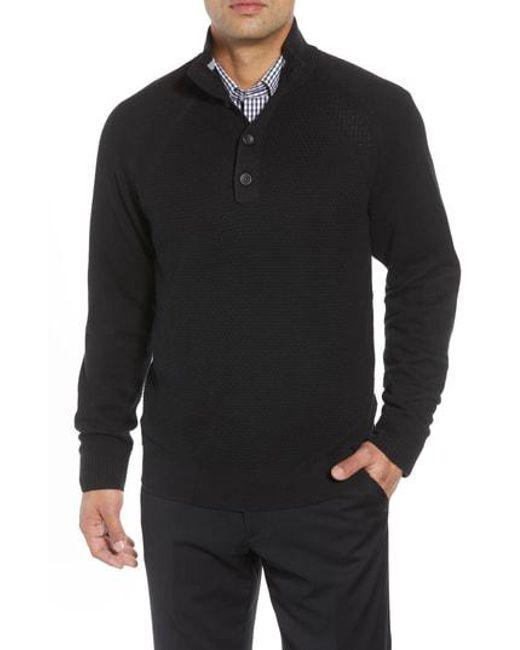 Lyst Cutter Buck Reuben Pullover Sweater In Black For Men