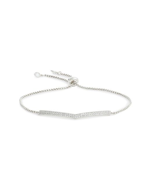 Nordstrom - Metallic Pave Chevron Slider Bracelet - Lyst
