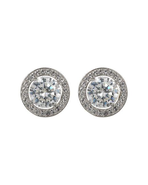 Nadri - Multicolor Crystal Halo Stud Earrings - Lyst