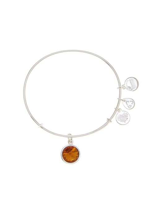 ALEX AND ANI - Metallic November Birthstone Expandable Wire Bangle - Lyst