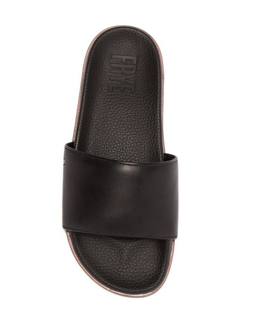 c952b9a1958 Lyst - Frye Emerson Slide Sandal in Black for Men - Save 76%