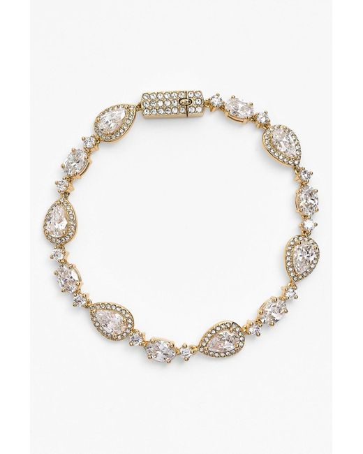 Nadri - Metallic Crystal Line Bracelet - Lyst