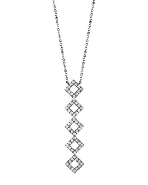 Dana Rebecca - Metallic 14k White Gold Diamond Accented Lisa Michelle Vertical Bar Necklace - 0.44 Ctw - Lyst