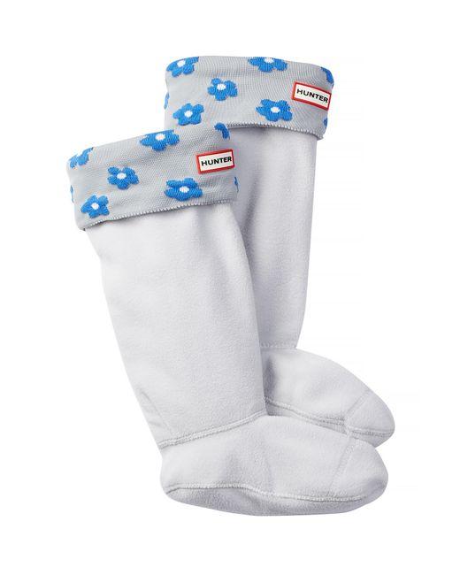 Hunter - White Original Tall Floral Cuff Boot Sock - Lyst