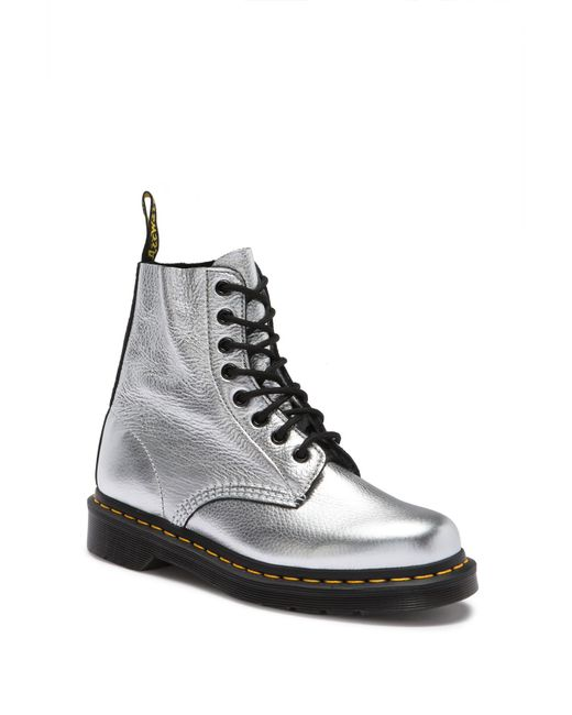 Dr. Martens - Metallic Dr. Martens Womens Silver Santos Pascal Boots - Lyst
