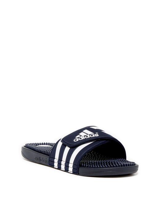 e5ef8d5b1eb Adidas originals Adissage Slide Sandal in Blue for Men