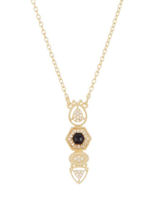 Judith Ripka - Metallic 14k Gold Plated Sterling Silver Rivoli Vertical Pendant Necklace - Lyst