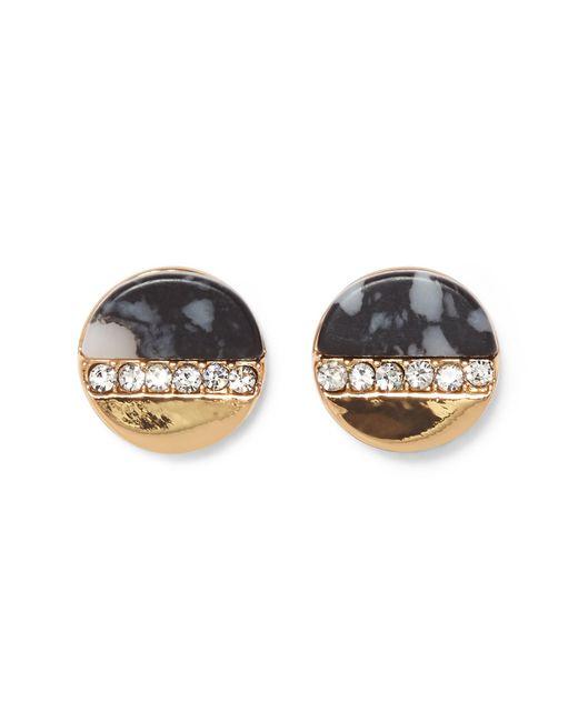 Vince Camuto - Metallic Dalmatian Jasper & Pav Crystal Stud Earrings - Lyst