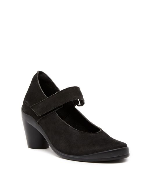 Arche - Black Gasko Nubuck Leather Mary Jane Pump - Lyst