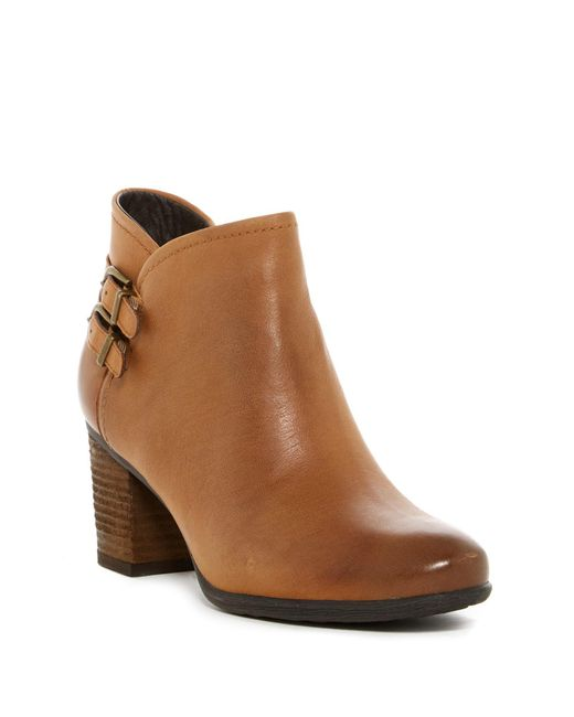 Josef Seibel | Brown Britney Dual Buckle Leather Ankle Boot | Lyst