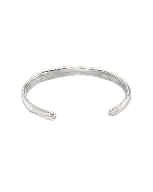 Uno De 50 | Metallic Open Your Mind Hammered Bangle Bracelet | Lyst