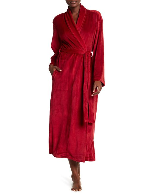 N Natori - Red Velour Robe & Headband 2-piece Set - Lyst