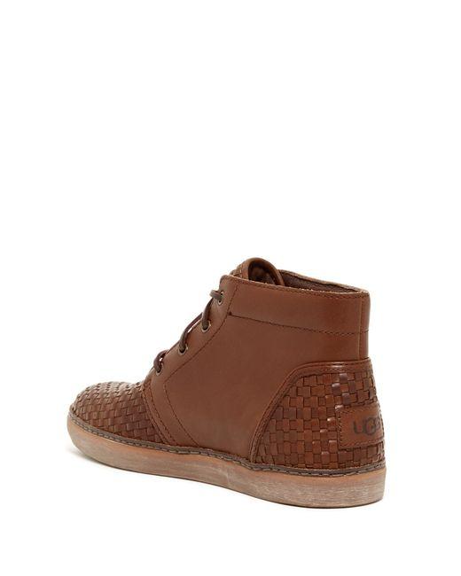 Ugg Australia Alin Woven Chukka Sneaker Boots In Brown For