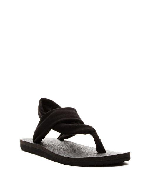 Sanuk Yoga Sling 3 Sandal In Black