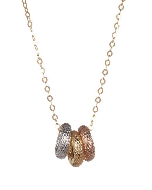 KARAT RUSH - Multicolor 10k Gold Tricolor Rings Necklace - Lyst