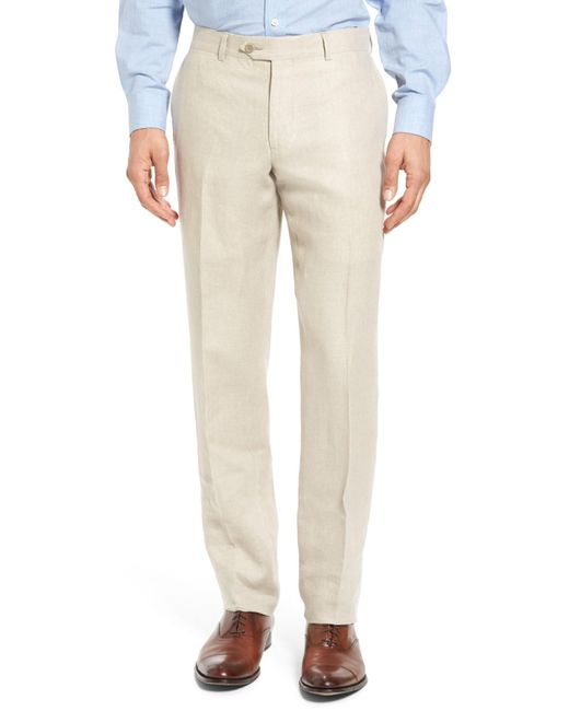 Image result for Plain Front Linen Trousers men