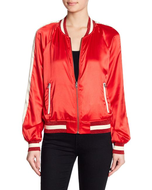 Pam & Gela - Red Colorblock Reversible Track Jacket - Lyst