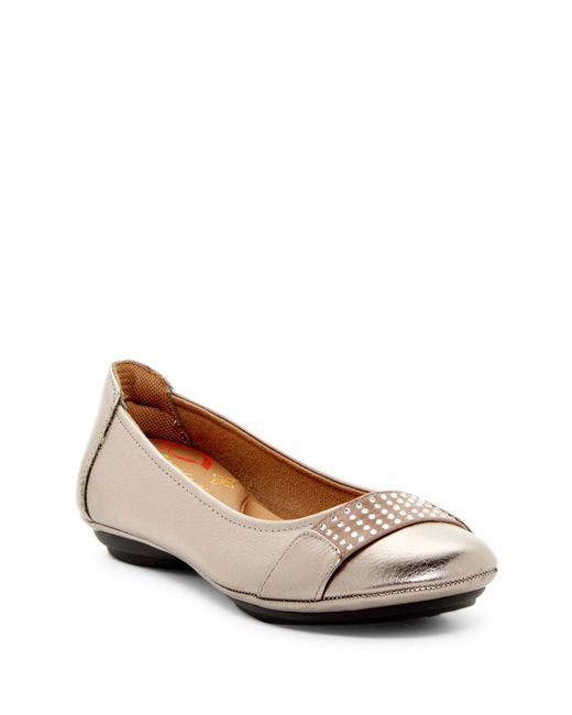 Comfortiva | Brown Sallis Jewel Embellished Flat - Wide Width Available | Lyst
