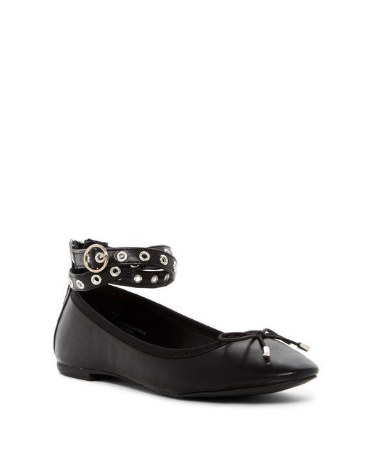 Madden Girl   Black Kiki Ankle Strap Ballet Flat   Lyst