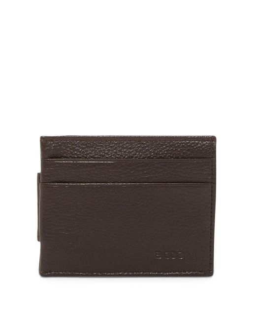 Boconi | Brown Magnetic Money Clip Card Case for Men | Lyst