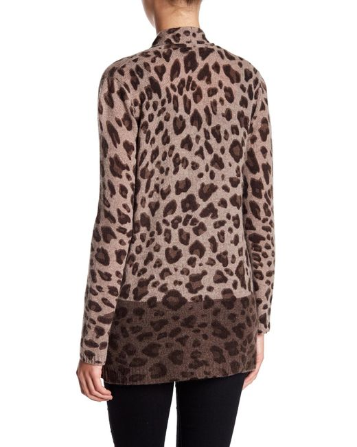Philosophy apparel Leopard Print Cashmere Cardigan (petite) in ...