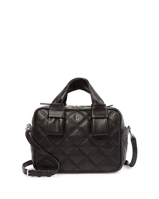 Marc Jacobs - Black Quilted Antonia Quilted Leather Satchel - Lyst