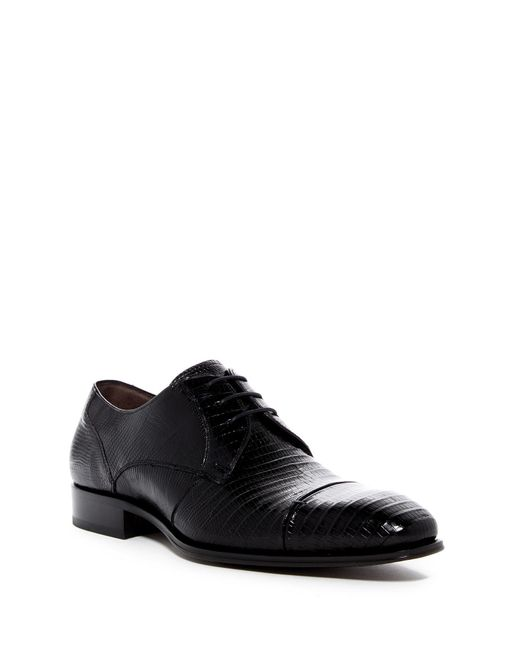 Mezlan | Black Valdes Genuine Lizard Cap Toe Derby for Men | Lyst