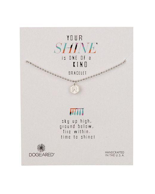 Dogeared - Metallic Sterling Silver Your Shine Angel Wing Token Bracelet - Lyst