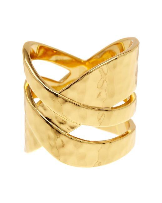 Gorjana | Metallic Amanda Crossover Ring - Size 7 | Lyst