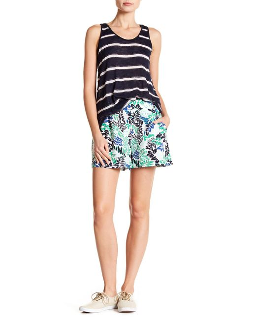 Joe Fresh - Green Patterned Crepe Shorts - Lyst