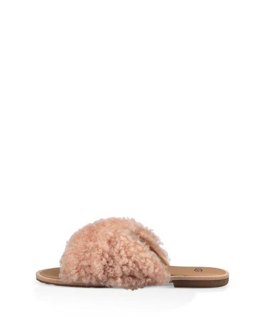 b74f739f0a8 Women's (r) Joni Genuine Shearling Slide Sandal