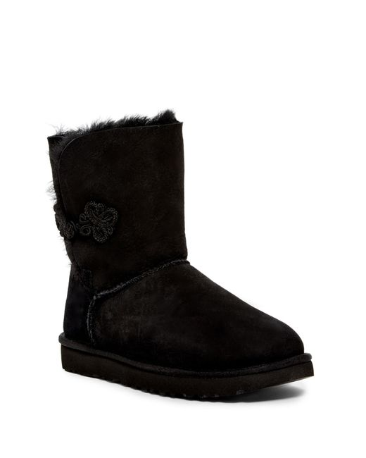 Ugg - Black Bailey Mariko Genuine Sheepskin Boot - Lyst