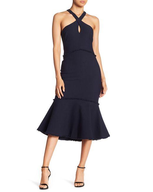 Cinq À Sept - Blue Dante Halter Dress - Lyst