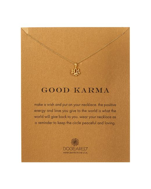 Dogeared | Metallic 14k Gold Plated Sterling Silver Good Karma Charm Necklace | Lyst