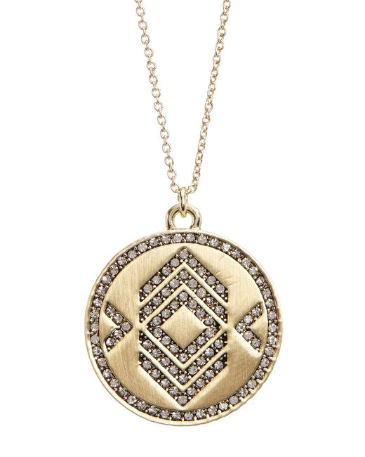 House of Harlow 1960 | Metallic Crystal Pendant Necklace | Lyst