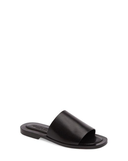 Charles David | Black Casey Flat Slide Sandal | Lyst