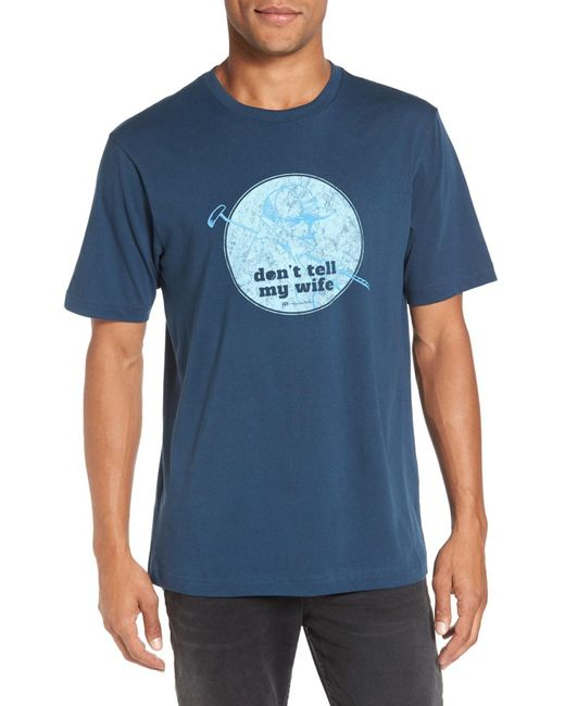 Travis Mathew | Blue 'no Habla' Graphic T-shirt for Men | Lyst