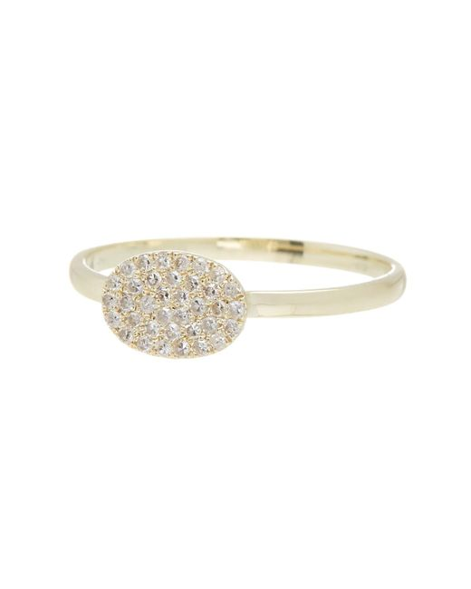 Meira T | Yellow 14k Gold Oval Diamond Pave Ring - Size 6 - 0.12 Ctw | Lyst