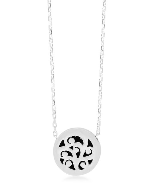 Lois Hill - Metallic Sterling Silver Extra Small Signature Hand Carved Scroll Slide Pendant Necklace - Lyst