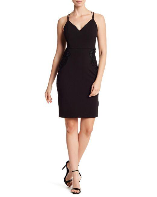 Guess - Black V-neck Strap Crossback Dress - Lyst