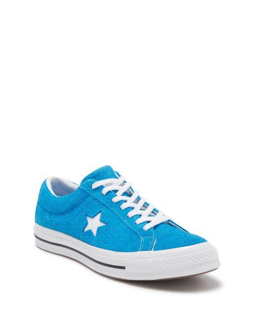 Blue One Star Suede Oxford Sneaker (unisex)