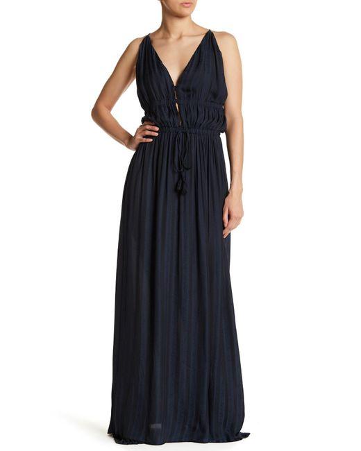 Muche Et Muchette - Blue Parker V-neck Striped Print Dress - Lyst