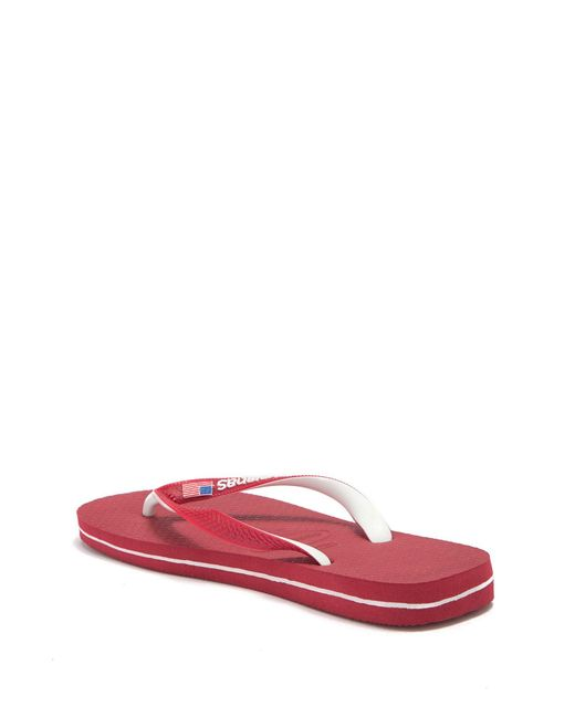 16b313748 ... Havaianas - Red Top Mix Usa Flag Flip Flop (women) for Men - Lyst ...
