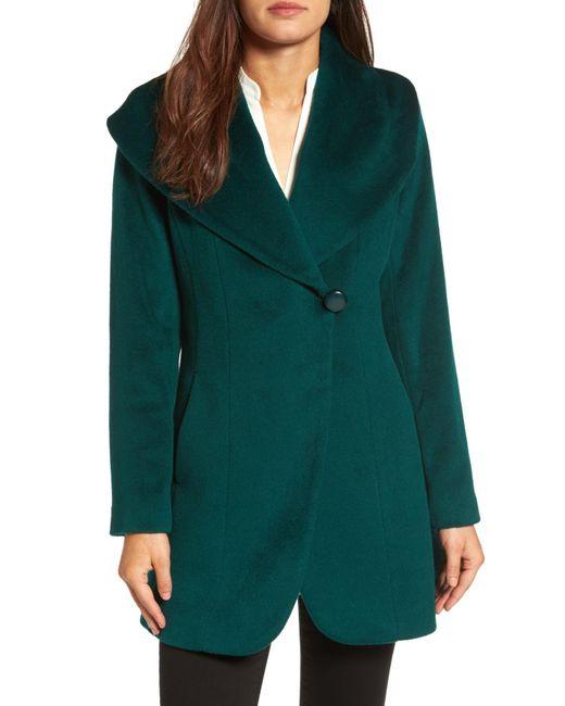 Trina Turk - Green Jemma Shawl Collar Coat - Lyst