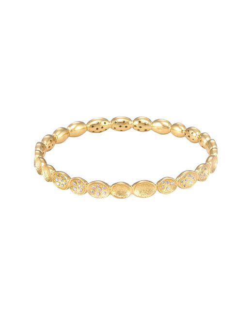 Melinda Maria - Metallic Lulu Mini Pave Bangle Bracelet - Lyst