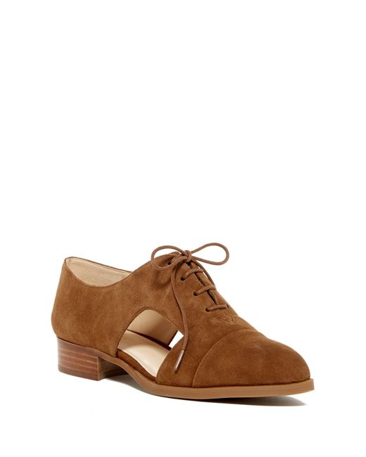 Nine West | Brown Suede Cut-out Lace Oxford for Men | Lyst